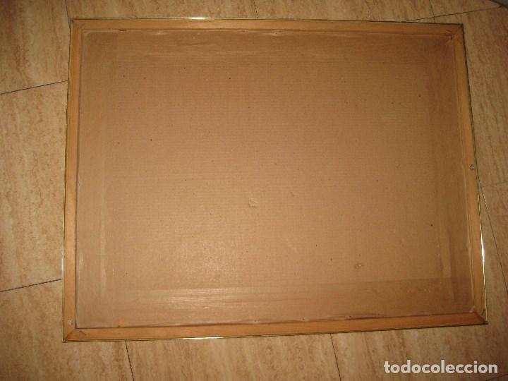 Vintage: Espejo metal y madera años 80 - Foto 8 - 82857060