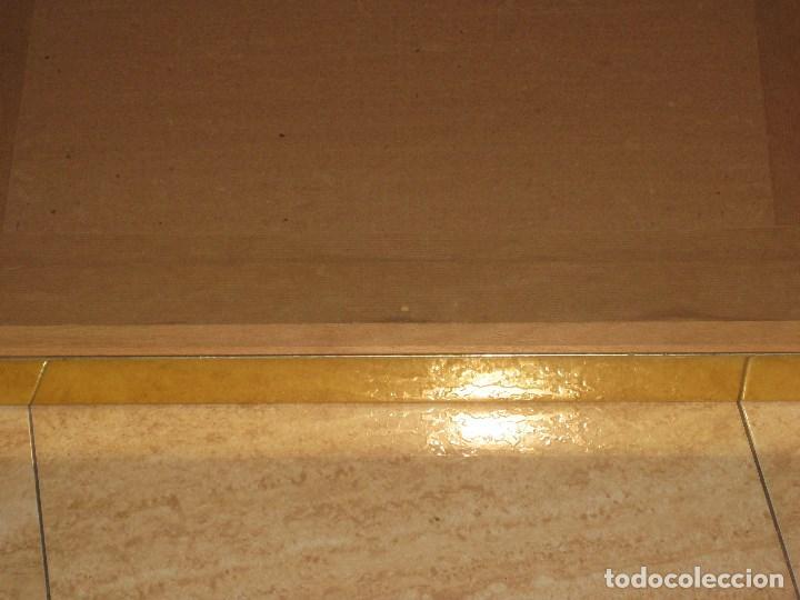 Vintage: Espejo metal y madera años 80 - Foto 9 - 82857060