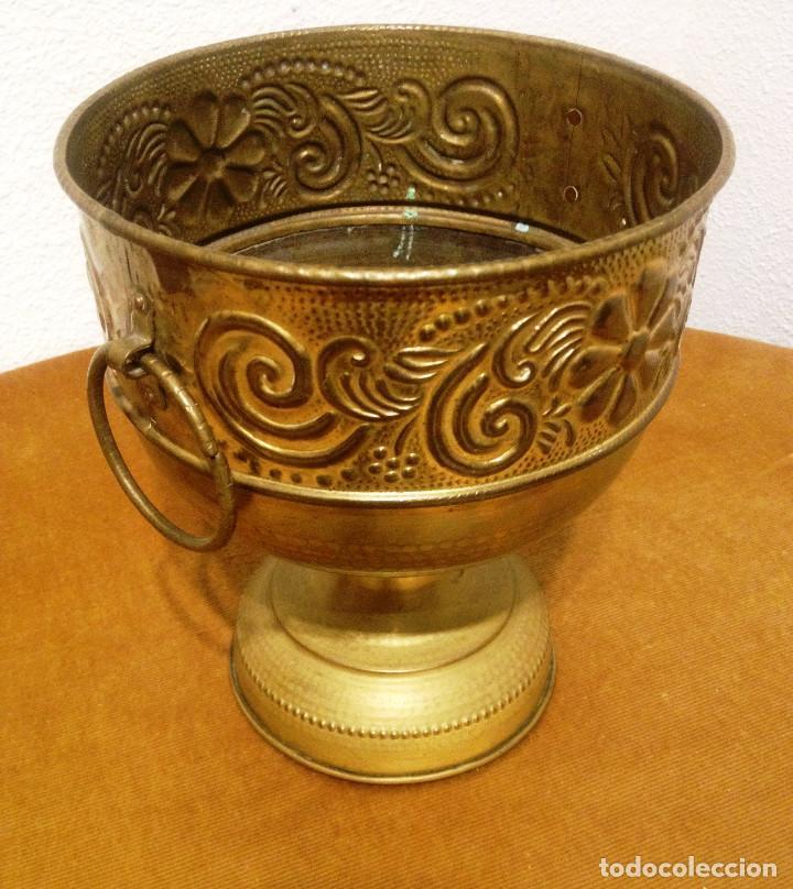Vintage: Centro de mesa metal dorado artesania - Foto 3 - 82976920