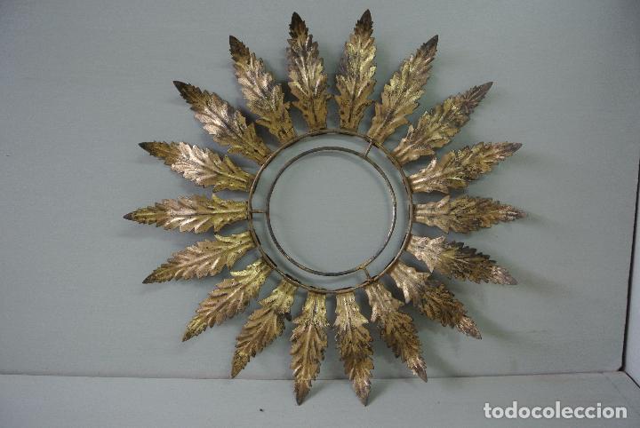 marco para espejo, hojas de metal doradas, tipo - Comprar en ...