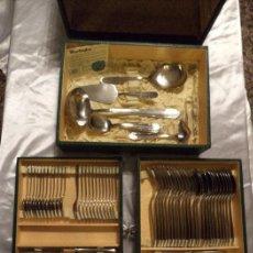 Vintage: ANTIGUA CUBERTERÍA MAURICE PIERARD. 79 PIEZAS. EXCELENTE ESTADO. CAJA ORIGINAL.. Lote 84914176