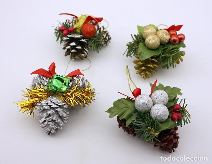 lote de 4 adornos navidad aos 70 80 retr Comprar en