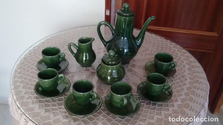 Juego de caf de cer mica de color verde comprar en - Juego para hacer ceramica ...