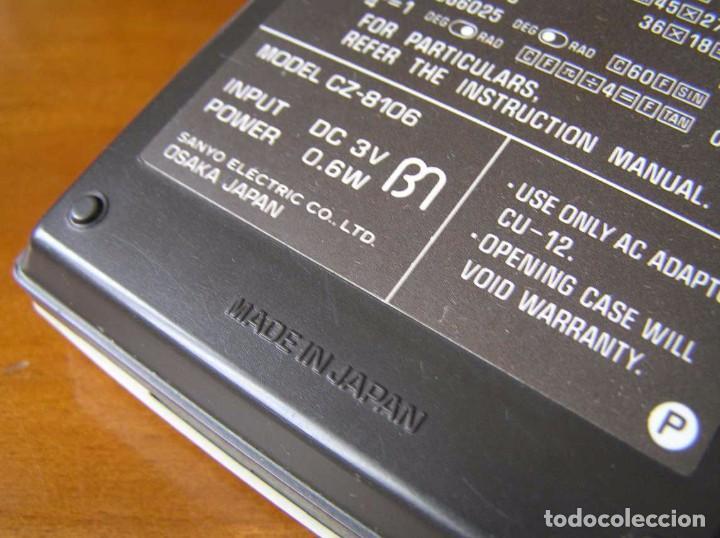Vintage: CALCULADORA SANYO CZ-8106 DE LOS AÑOS 70 CZ8106 CZ 8106 CALCULATOR - Foto 20 - 85728012