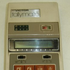 Vintage: ANTIGUA CALCULADORA VICTOR TALLYMATE MODEL-85, AÑOS 70 LEDS VERDES, MADE IN JAPAN. Lote 85920759
