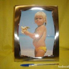 Vintage: MARCO PORTAFOTOS ACERO INOXIDABLE 18/8, PARA FOTOS DE 18 X 24, VINTAGE, AÑOS 70, NUEVO SIN USAR. Lote 86939960