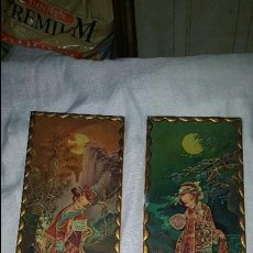Vintage: PAREJA CUADROS CHINOS AÑOS 60. Lote 87366964
