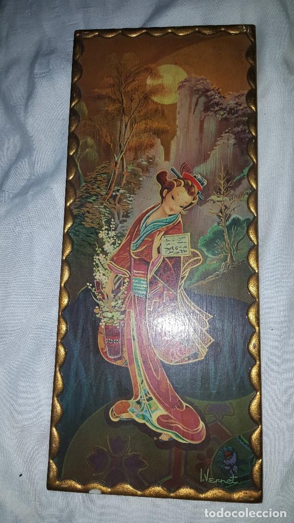 Vintage: PAREJA CUADROS CHINOS AÑOS 60 - Foto 3 - 87366964