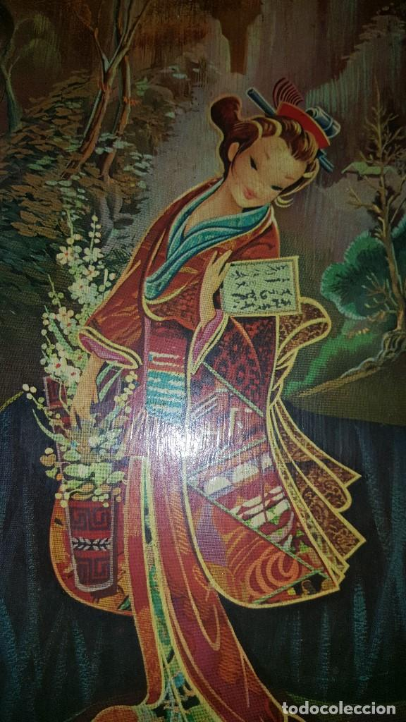 Vintage: PAREJA CUADROS CHINOS AÑOS 60 - Foto 7 - 87366964