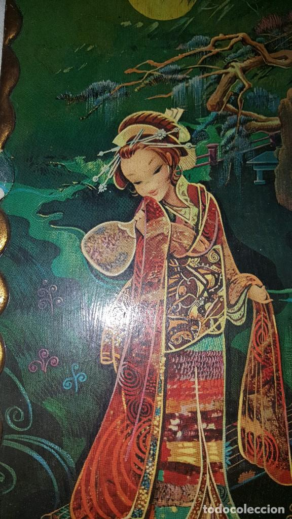 Vintage: PAREJA CUADROS CHINOS AÑOS 60 - Foto 8 - 87366964