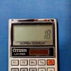 Vintage: CALCULADORA CITIZEN LH-700 SUPER DISPLAY. Lote 88412308