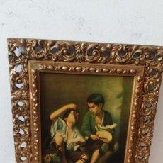Vintage: LAMINA Y MARCO DORADO. Lote 95740628