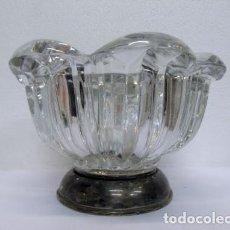 Vintage: CENTRO DE CRISTAL Y PLATA. Lote 88794724
