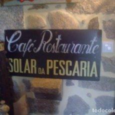 Vintage: ANTIGUA CHAPA PUBLICIDAD CAFÉ RESTAURANTE VINTAGE PINTADA A MANO ORIGINAL. Lote 89375680