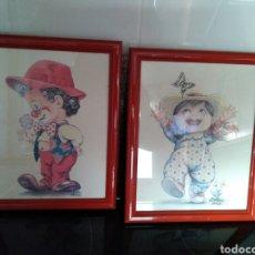Vintage: LOTE DE 2 CUADROS INFANTILES. Lote 90064031
