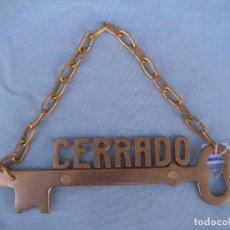 Vintage: COLGANTE DE PUERTA CERRADO VINTAGE. Lote 91872820
