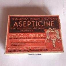 Vintage: FARMACIA MEDICAMENTO ASEPTICINE. Lote 93110897