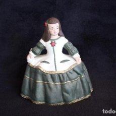 Vintage: MIGURA DECORATIVA PINTADA A MANO. MENINA. ESCAYOLA. 20 X 18 X 12 CM. Lote 94102860