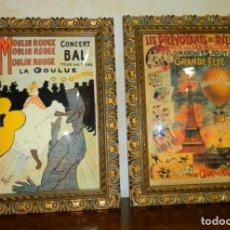 Vintage: PAREJA DE CUADROS ESMALTADOS...PRECIOSOS. Lote 95096623