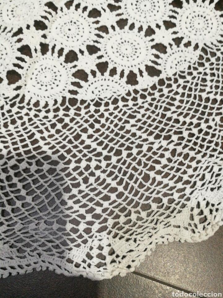Vintage: Tapete/ centro de mesa blanco de crochet - Foto 4 - 95388778