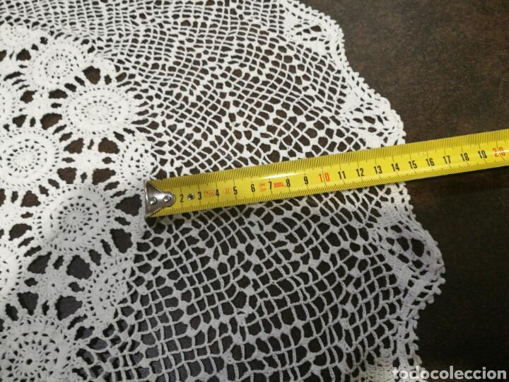 Vintage: Tapete/ centro de mesa blanco de crochet - Foto 5 - 95388778