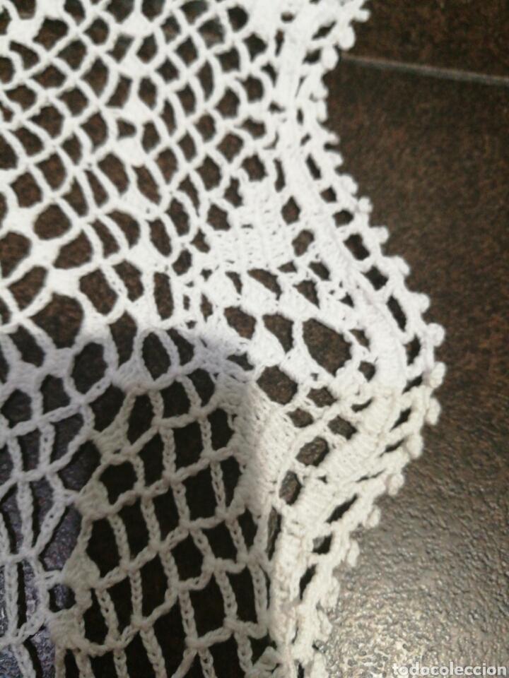 Vintage: Tapete/ centro de mesa blanco de crochet - Foto 6 - 95388778