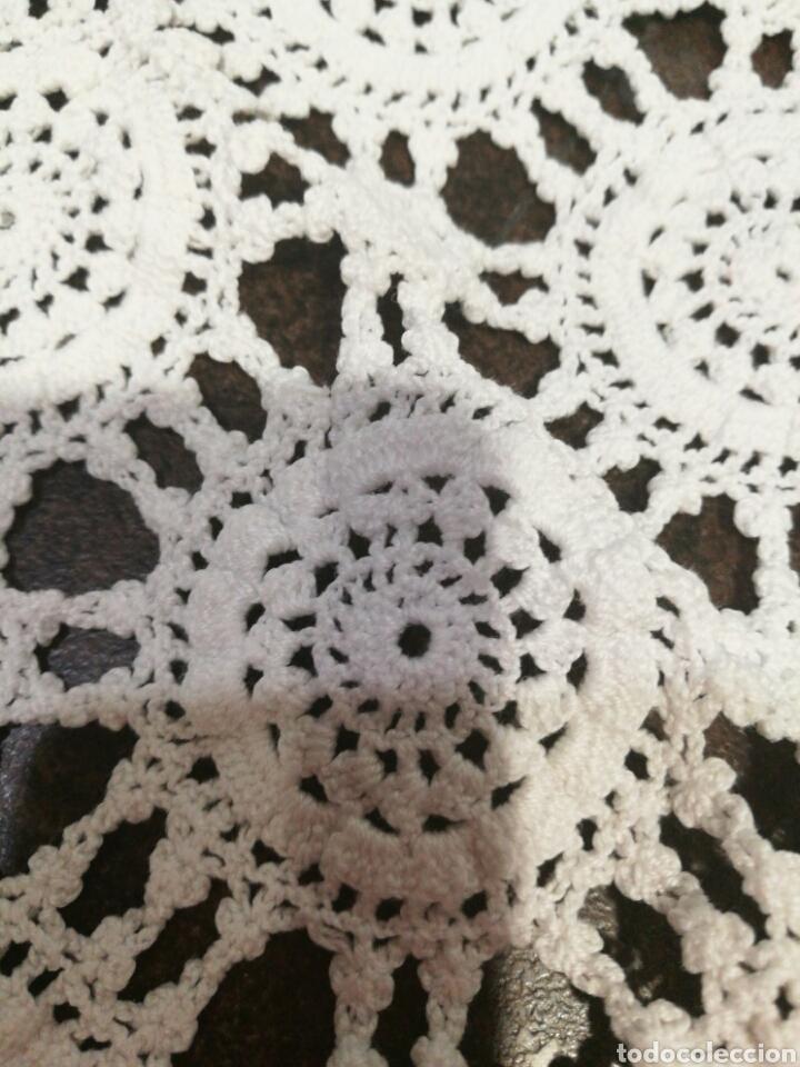 Vintage: Tapete/ centro de mesa blanco de crochet - Foto 7 - 95388778
