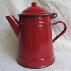 Vintage: CAFETERA ESMALTADA ROJA DE 1 LITRO IBILI . Lote 95834567