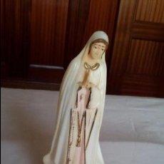 Vintage: FIGURA RELIGIOSA - IMAGEN DE LA VIRGEN DE FÁTIMA EN RESINA,15 CM -. Lote 96570915