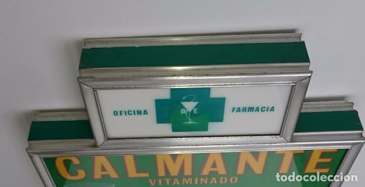Vintage: URNA DE TURNOS DE GUARDIA DE FARMACIA DE CALMANTE VITAMINADO RESTAURADO CON ILUMINACION ORIGINAL - Foto 4 - 97015343