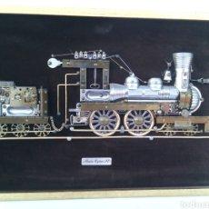 Vintage: CUADRO TREN MARCO PRAIRIE EXPRESS 1871. Lote 97405423