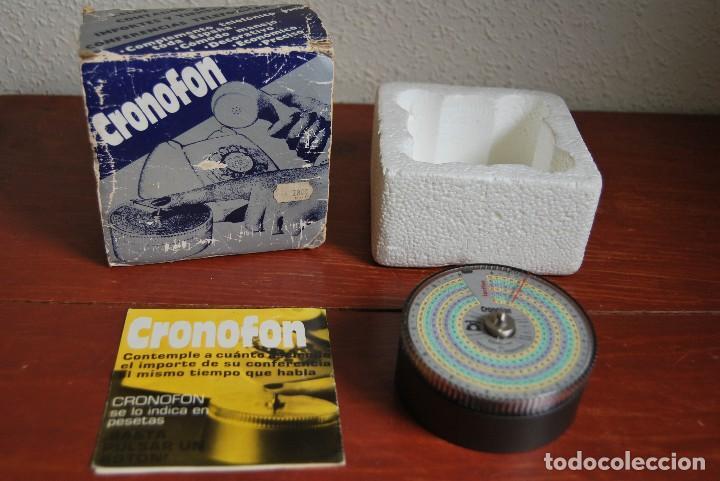 CRONOFON - COMPLEMENTO TELEFÓNICO - CONTADOR DE TIEMPOS E IMPORTES DE TELÉFONO - EN SU CAJA ORIGINAL (Vintage - Varios)