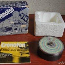 Vintage: CRONOFON - COMPLEMENTO TELEFÓNICO - CONTADOR DE TIEMPOS E IMPORTES DE TELÉFONO - EN SU CAJA ORIGINAL. Lote 97639739