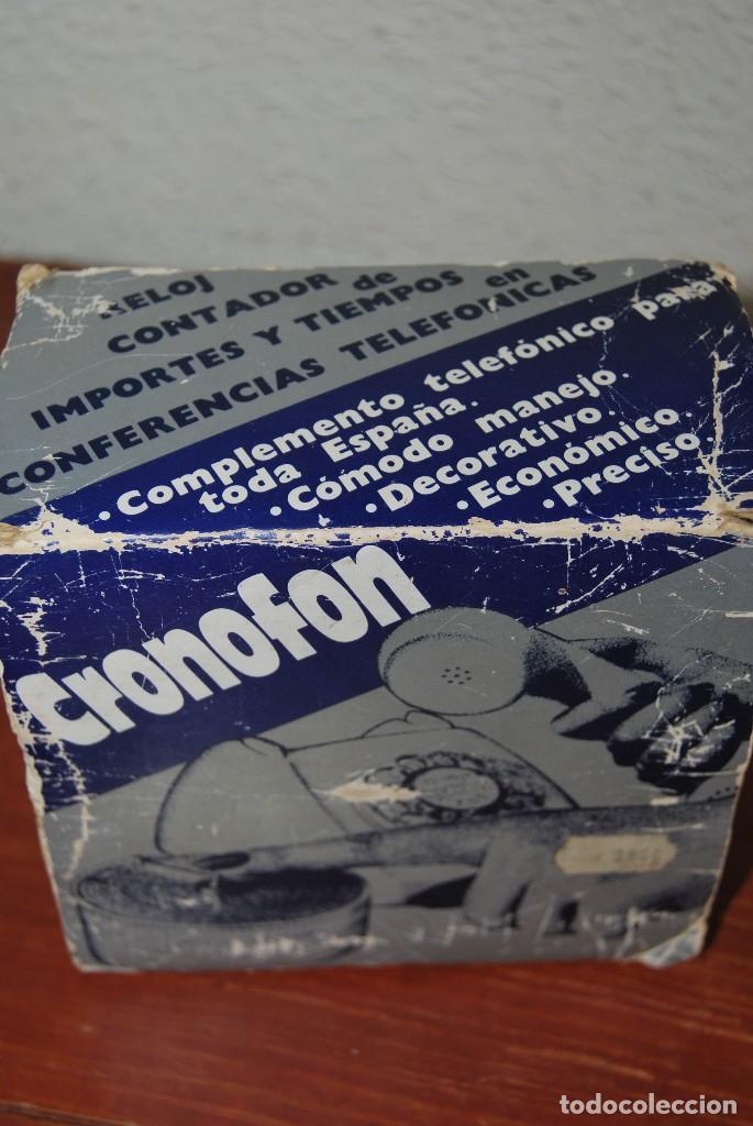 Vintage: CRONOFON - COMPLEMENTO TELEFÓNICO - CONTADOR DE TIEMPOS E IMPORTES DE TELÉFONO - EN SU CAJA ORIGINAL - Foto 2 - 97639739