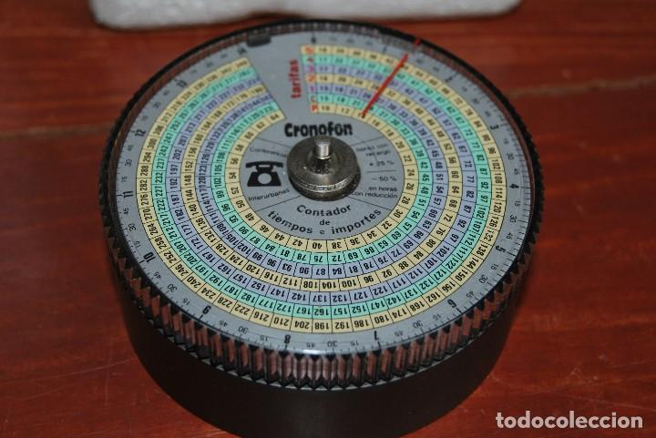 Vintage: CRONOFON - COMPLEMENTO TELEFÓNICO - CONTADOR DE TIEMPOS E IMPORTES DE TELÉFONO - EN SU CAJA ORIGINAL - Foto 5 - 97639739