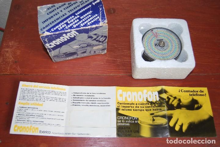 Vintage: CRONOFON - COMPLEMENTO TELEFÓNICO - CONTADOR DE TIEMPOS E IMPORTES DE TELÉFONO - EN SU CAJA ORIGINAL - Foto 13 - 97639739