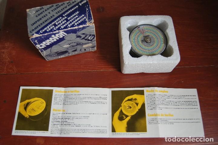 Vintage: CRONOFON - COMPLEMENTO TELEFÓNICO - CONTADOR DE TIEMPOS E IMPORTES DE TELÉFONO - EN SU CAJA ORIGINAL - Foto 14 - 97639739