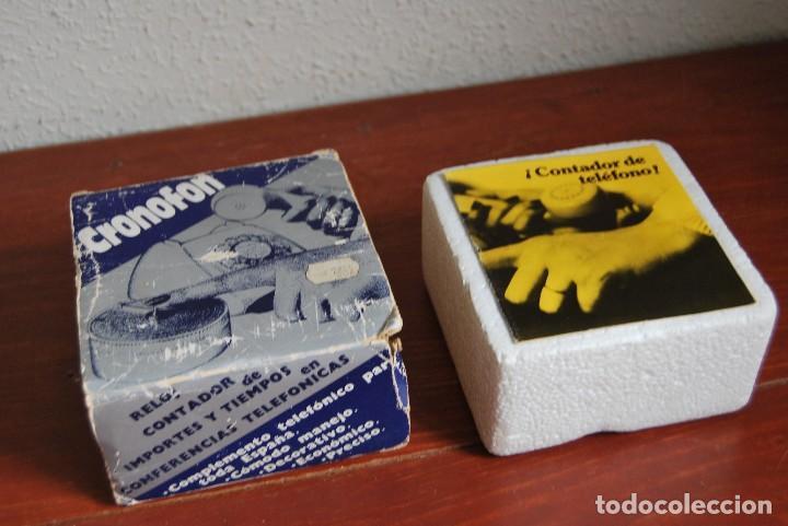 Vintage: CRONOFON - COMPLEMENTO TELEFÓNICO - CONTADOR DE TIEMPOS E IMPORTES DE TELÉFONO - EN SU CAJA ORIGINAL - Foto 15 - 97639739