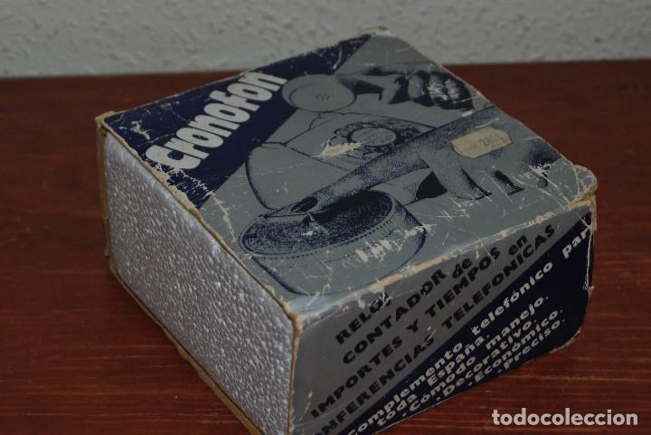 Vintage: CRONOFON - COMPLEMENTO TELEFÓNICO - CONTADOR DE TIEMPOS E IMPORTES DE TELÉFONO - EN SU CAJA ORIGINAL - Foto 16 - 97639739
