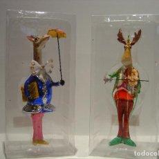 Vintage: FIGURA DE NAVIDAD - ADORNO NAVIDEÑO - JIRAFA Y ALCE. Lote 97816039