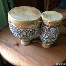 Vintage: BONGOS O TAMBORES. Lote 98345606