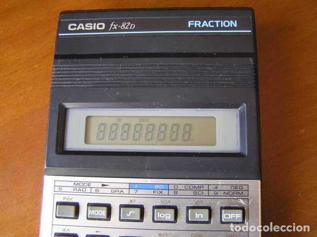 Vintage: CALCULADORA CASIO fx-82D FRACTION fx82D - CALCULATOR - - Foto 42 - 98355099