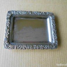 Vintage: PEQUEÑA BANDEJA ALPACA AÑOS 50 (19X15 CM). Lote 98434951