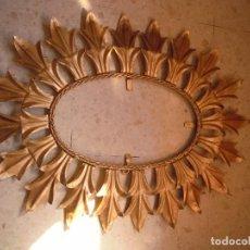 Vintage: MARCO DORADO ESPEJO SOL OVALADO. Lote 98447535