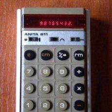 Vintage: CALCULADORA INGLESA ANITA 811 FUNCIONANDO BIEN. Lote 98877215