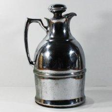 Vintage: ANTIGUA JARRA TERMO HIERRO 26,50 CM ALTO, MUY PESADO: 2 KG. Lote 99894207