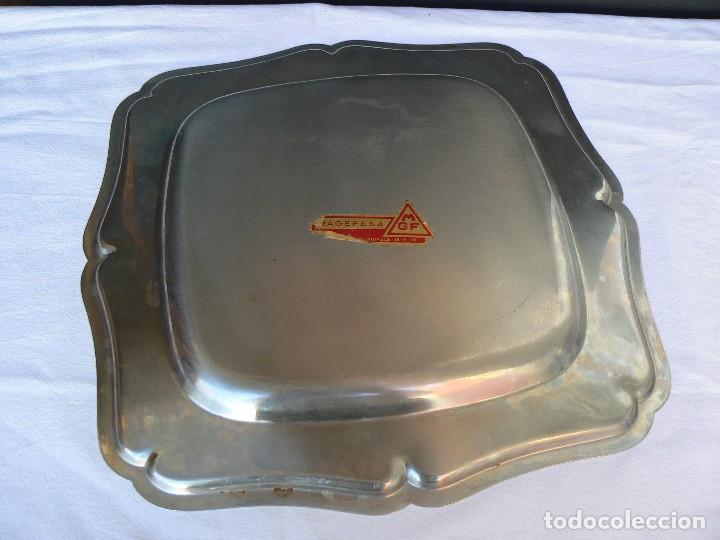 Vintage: BANDEJA DE ACERO INOXIDABLE 18/8-10.MARCA MAGEFESA.36 X 36 CM. - Foto 2 - 100031967