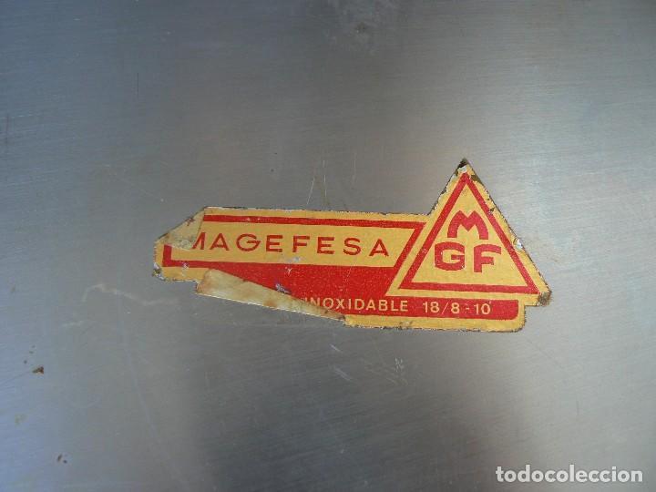 Vintage: BANDEJA DE ACERO INOXIDABLE 18/8-10.MARCA MAGEFESA.36 X 36 CM. - Foto 3 - 100031967