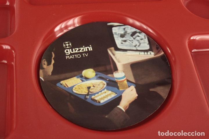 Vintage: bandeja plato Guzzini Luigi Massoni rojo plástico space age retro Italia 70s - Foto 3 - 100076099