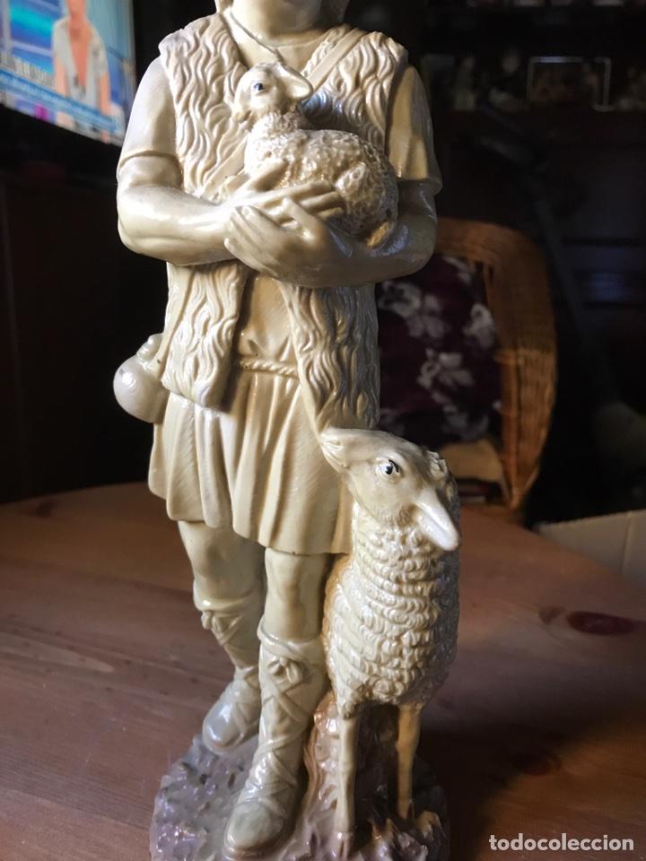 Vintage: Figura de un pastor de resina - Foto 8 - 100354908